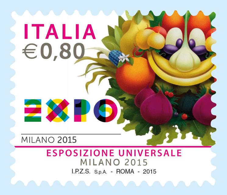 Expo milano 2015 presentato il francobollo celebrativo for Esposizione universale expo milano 2015