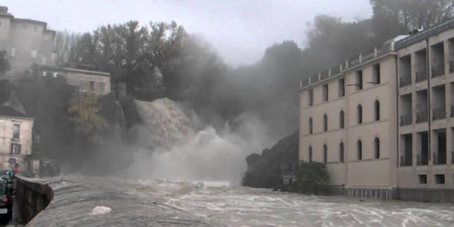Isola del Liri, stavolta la cascata fa paura
