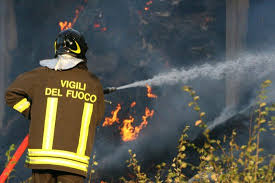 Incendio lungo la superstrada Frosinone-Sora