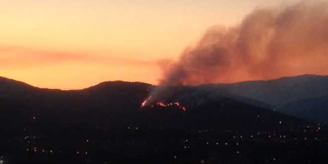 Incendio Alatri, fiamme in periferia