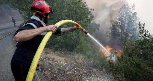 Incendio a Ferentino, Vigili del Fuoco sul posto