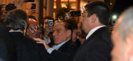 Berlusconi a Fiuggi, ovazione per il cavaliere