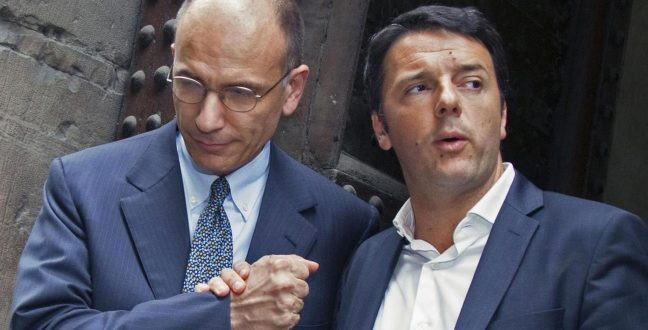 Governo, stretta di mano Letta-Renzi