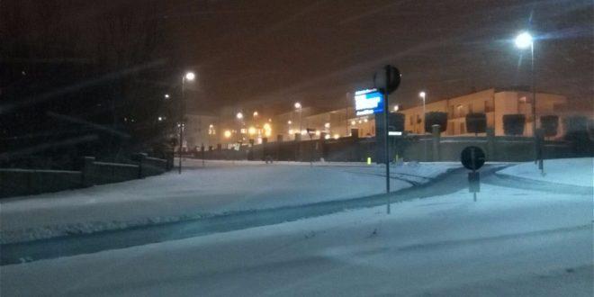 Neve a bassa quota in Ciociaria, fiocchi anche a Roma