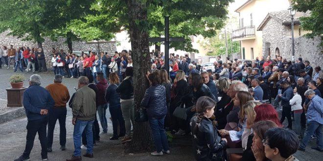 """""""Boville bene comune"""", bagno di folla in piazza San Francesco"""
