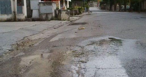 Mercato allagato, perdita d'acqua a Veroli