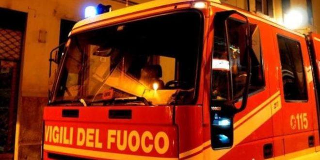 Incendio in Ciociaria, intera famiglia messa in salvo