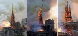 Maxi incendio a Notre Dame, crollati tetto e guglia